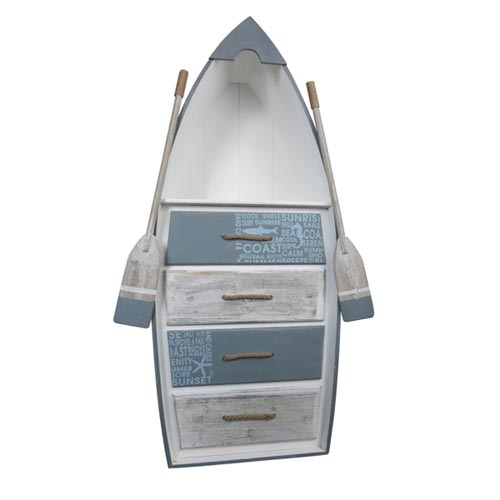 Boat Shelf with Four Drawers