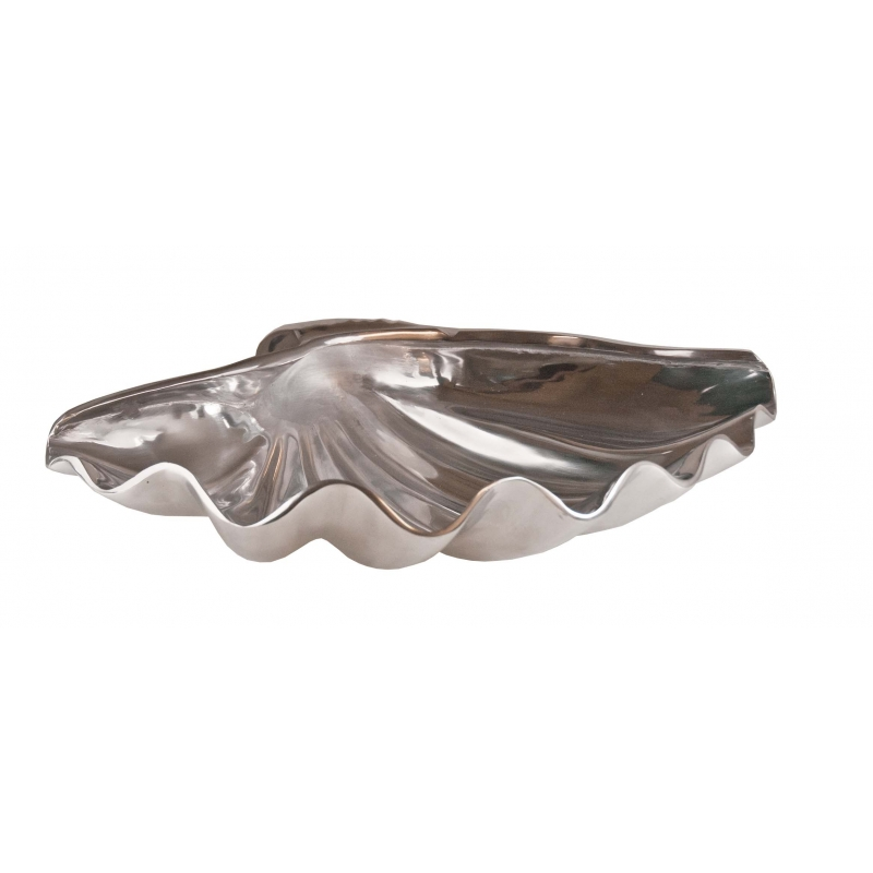 Silver Metal Clam