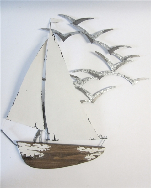 Wall Yacht with Seagulls